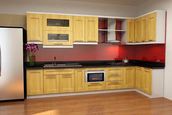 Tủ bếp Sồi Nga SG001