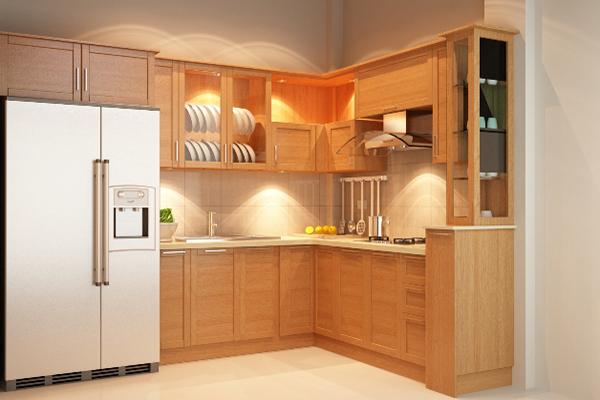 Tủ bếp Sồi Nga SG004